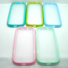 matting plastic back case with colorful bumper for Samsung