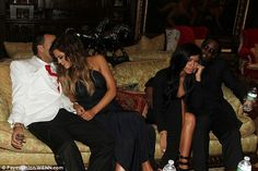 PDA time: The on again couple cozied up to one another alongside longtime duo Cassie and Diddy