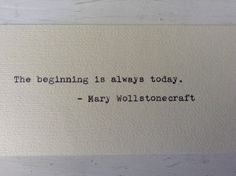 Mary Wollstonecraft Hand Typed Quote by StampedAndMetered on Etsy