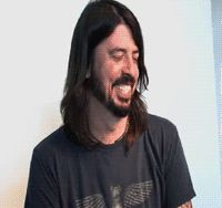 Dave Grohl laughing