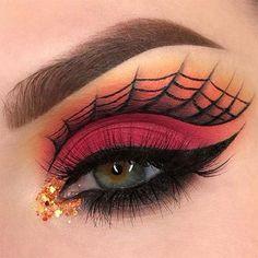Spooky & Creepy Halloween Eye Make Up Trends 2021 | Modern Fashion Blog Eye Makeup Designs, Eye Makeup Art, Eyeshadow Makeup, Makeup Ideas, Makeup Tips, Makeup Inspo, Makeup Tutorials, Makeup Inspiration, Glowy Makeup