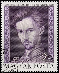 Picture of HUNGARY - CIRCA A postage stamp printed by Hungary shows image portrait of famous Hungarian poet and liberal revolutionary Sandor Petofi circa stock photo, images and stock photography. Old Stamps, Vintage Stamps, Stamp Printing, Budapest Hungary, Mail Art, Stamp Collecting, My Stamp, Old Photos, Royalty