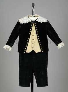 Child's ensemble...Ensemble Date: 1880–89 Culture: American Medium: Wool, cotton, silk, leather Credit Line: Brooklyn Museum Costume