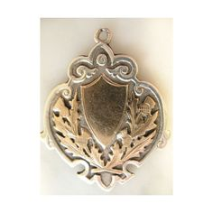 Fab Antique Victorian Sterling Silver 9ct Gold Watch Fob Pendant Medal... via Polyvore