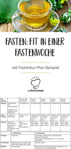 Beim Fasten kann man abnehmen, schlank und fit werden, schädliche Schlacken abb… With fasting you can lose weight, become slim and fit, break down harmful slags and in just a few days. Even if the diet plan consisting of herbal… Continue Reading → Fitness Workouts, Natural Detox Water, Herbal Tea Benefits, Slim And Fit, Slim Fast, Menu Dieta, Full Body Detox, Detox Plan, Le Diner