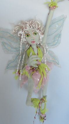 FIELD FAIRY art doll hanging doll soft doll ooak by Kaeriefaerie52