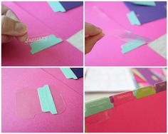 how to make great tabs: WeRMemoryKeepers Tab Punch holds all the punches in a storage area under the punch until I am ready for them. Then I used the TAB labels to categorize everything! After I labeled my tabs, I used the TAB stickers to adhere them to my dividers. The stickers fold in half + sandwich the cardstock in between the sticky layers.Simple as that!
