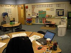 Special Education classroom ideas.  love how the teacher's desk is in the center of the classroom and very reachable instead of hidden away in a corner somewhere.