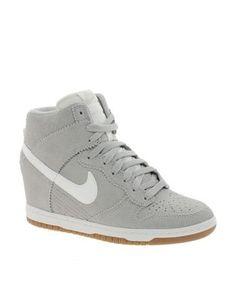 Nike Dunk Sky High Grey Wedge Trainers