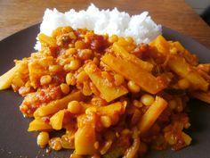 Žlutý hrách s máslovou dýní na indický způsob