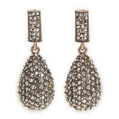 Gold Glittering Teardrop - Glamour   YDE South African Fashion, Perfume, Glamour, Drop Earrings, Gold, Jewelry, Jewlery, Jewerly, Schmuck