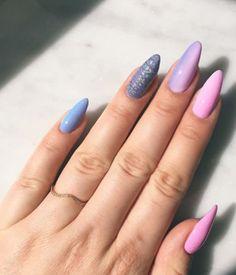 #unicorn #holo #pink #nails #nailsdesign #blue #purple