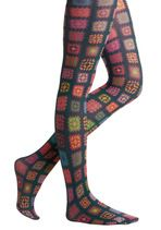 Love these tights from modcloth that look like crocheted granny squares!