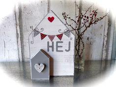 Deko-Objekte - *HEJ-Holzhaus* - ein Designerstück von pabst96 bei DaWanda
