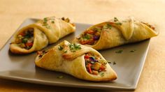 Take a shortcut with refrigerated pizza crust in an Italian flatbread appetizer stuffed with Eastern flavors.