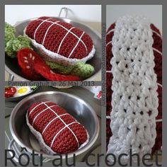 Crochet Food, Crochet Art, Learn To Crochet, Free Crochet, Crochet Patterns, Food Patterns, Felt Food, Fiber Foods, Play Food