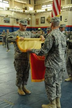 Indiana National Guard's 38th Sustainment Brigade assumes command from #NCNGs 113th Sustainment Brigade in Kuwait