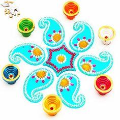 Acrylic Blue Rangoli For Diwali Diwali Decoration Items, Diwali Rangoli, Diwali Gifts, Online Gifts, Decorative Items, Decorating Your Home, Kids Rugs, Candles, Blue