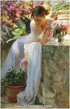 """Well-spent Sunday"", oil on canvas. Author Vladimir Volegov, 2014"