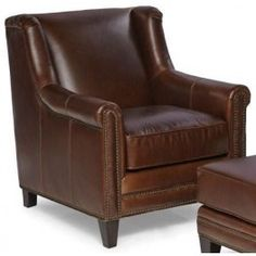 $1465, Pendleton Trends Walnut Leather Chair