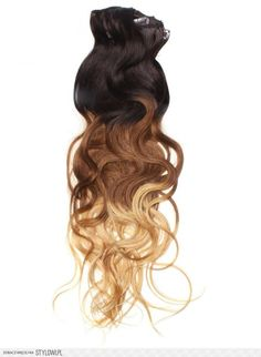 22 Inch Popular Ombre Clip In Hair Extensions Three Ton… na Stylowi.pl