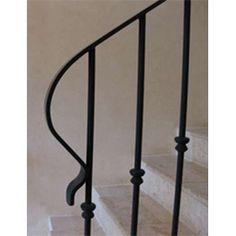 Simple wrought iron balustrade