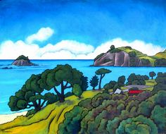 Wendy Leach is a New Zealand artist. Her current paintings are large, energetic and visually powerful. New Zealand Landscape, New Zealand Art, Nz Art, Landscape Paintings, Landscapes, Amazing Street Art, Design Art, Tile Design, Art Tutorials