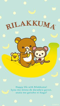 Rilakkuma Year of Monkey Phone Wallpaper Size: • 640x1136 • 1080x1920