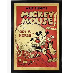 Mickey Mouse, Get a Horse Poster