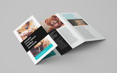 Free 4-panel leaflet mockup on Behance