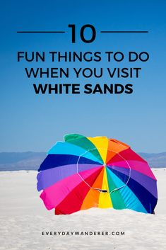Things to do when you visit White Sands National Park near Alamogordo New Mexico formerly known as White Sands National Monument. Have a White Sands New Mexico photoshoot on your White Sands trip to White Sands NM from Las Cruces New Mexico. If you're looking for things to do in Las Cruces New Mexico, take a White Sands road trip. White Sands is a great stop on your New Mexico trip or New Mexico vacation. #lascruces #alamogordo #newmexico #US #USA #USTravel