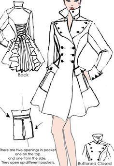 Victorian Coat design By Amber Middaugh-- #Vintage #victorian #Steampunk