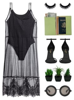 """""""Traveller"""" by starit ❤ liked on Polyvore featuring H&M, Christopher Kane, Yves Saint Laurent and Royce Leather"""