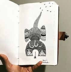 "Double tap if you love elephants as much as we do!! ""Nature's great masterpiece an elephant; the only harmless great thing.""   . Find our sketchbooks on Etsy.. shop link on the profile page!! #sketchbook #sketchbooks #draw #zentangle #zentangles #zentangleart #drawing #drawings #drawingaday #drawingoftheday #drawsomething #elephant #mandala #zendala #drawdaily #drawingart #handdrawn #mandalas #mandalaart #leatherjournal #brownjournal #etsyseller #handmadeisbetter #handmade #etsystore…"