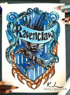 Ravenclaw by Lucky978.deviantart.com on @DeviantArt -- Hogwarts House Crests by Katy Lipscomb