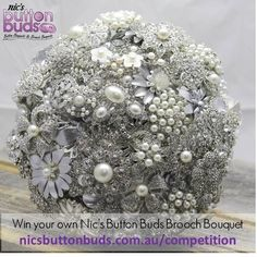 Win a Nic's Button Buds Brooch Bouquet www.nicsbuttonbud... #win #nicsbuttonbuds @Nic's Button Buds - Alternative Wedding Bouquets #broochbouquet #brooch #bouquet #wedding #bride