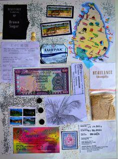 A page from my Sri Lanka honeymoon travel journal Book Journal, Journals, Sri Lanka Honeymoon, Key Bank, Travel Scrapbook, Stamp Collecting, Journal Inspiration, Scrapbooks, Blog