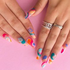 Line Nail Art, Basic Nails, Gorgeous Nails, Nail Tech, More Fun, Silver Rings, Engagement Rings, Melbourne, Beauty