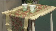 Upcycling doors into tables