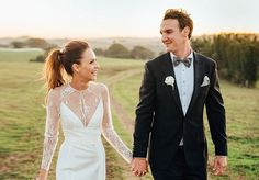 Byron Bay wedding Photographer: @nickevans Gown: 'Arielle' lace gown by KAREN WILLIS HOLMES Follow: @KWHBridal