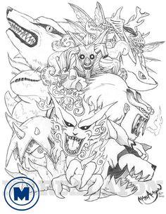 Naruto Shippuden Jinjuriki by marualayon on DeviantArt Anime Naruto, Naruto Cute, Naruto Shippuden Sasuke, Itachi Uchiha, Boruto, Naruto Tattoo, Anime Tattoos, Naruto Sketch, Anime Sketch