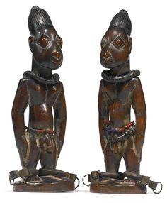 Yoruba Paire de Ibeji Figures, Nigeria | Lot | Sotheby