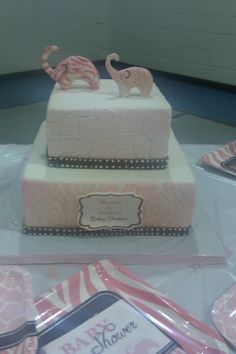 Now this is my dream cake... wow!  Pink Wild Safari Baby Shower Cake By cakebella on CakeCentral.com