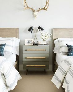 Postbox Designs Boy's Adventure Bedroom Makeover How to Style a Nightstand for One Room Challenge Image Credit: Studio McGee Studio Mcgee, Room Ideas Bedroom, Home Bedroom, Bedroom Decor, Bedroom Kids, Bedroom With Tv, Master Bedroom, Bedroom Brown, Bedroom Beach
