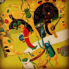 沖縄のバーでミュージシャンがセッションしていた様子はある絵のほんの一部。畔蒜克則 個展 夏たちを https://www.facebook.com/events/684965341658775/ #日本画 #岩絵具 #絵画 #常夏 #沖縄 #BAR #昆虫 #個展 #japanese #paintings #summertimes #okinawa #musician #sessions #cafe #gallery #tachikawa #tokyo galleria_salone #haveaniceday