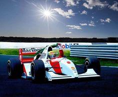 Ayrton Senna - McLaren - Ilustração