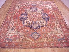 "Persian: Geometric 13' 4"" x 10' 0"" Serapi at Persian Gallery New York - Antique Decorative Carpets & Period Tapestries"