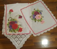 Pintura em tecido caminho de mesa ramo de rosas welk