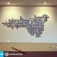 """4x4"""" #instagramprints @aniavanian: """"Progress shot: Our #instagram wall is coming together. Thanks again, foxgram.com for the super fast turnaround time!"""""""