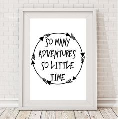 So many adventures so little time print